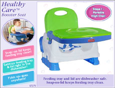 Fisher-Price Healthy Care Booster Seat offers  sc 1 st  eBay & Fisher-Price Healthy Care Deluxe Booster Seat Blue/Green/Gray ...