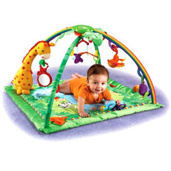 fisher price rainforest melodies and lights deluxe early development playmats