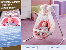 Fisher Price Papasan Cradle Swing Butterfly Garden On Popscreen