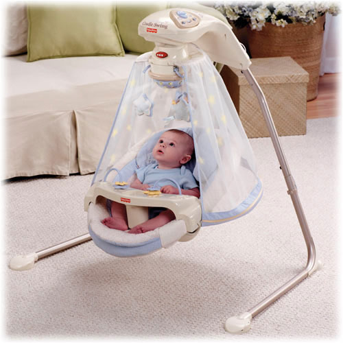 The Starlight Papasan Cradles And Swings Your Baby To Songs Sounds Of Nature A Mobile View Larger