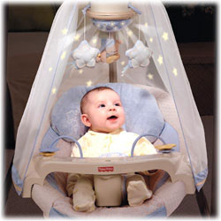 Switch on the magical starry light show that projects onto the canopy. View larger.  sc 1 st  Amazon.com & Amazon.com : Fisher-Price Papasan Cradle Swing Starlight ...