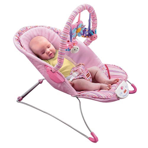 Fisher Price Bouncer >> Amazon.com : Fisher-Price Think Pink Bouncer (Discontinued by Manufacturer) : Infant Bouncers ...