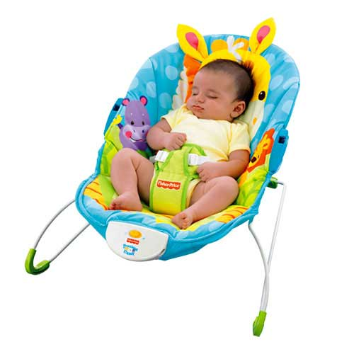 Amazon.com : Fisher-Price Precious Planet Happy Giraffe Bouncer ...