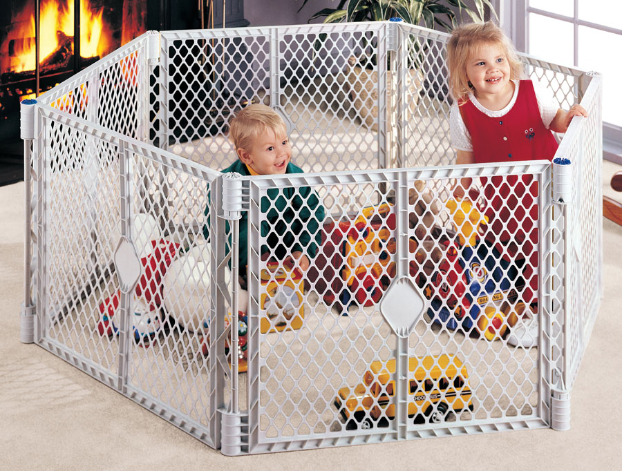 Amazon Com North States Superyard Play Yard Grey 6