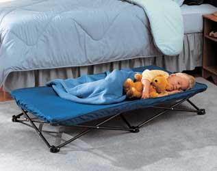 Regalo My Cot Portable Bed (Royal Blue), carrying case, cot cover, and
