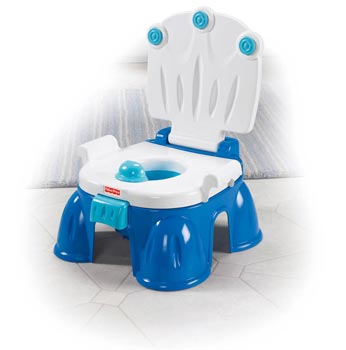 Amazon Com Fisher Price Royal Stepstool Potty Blue