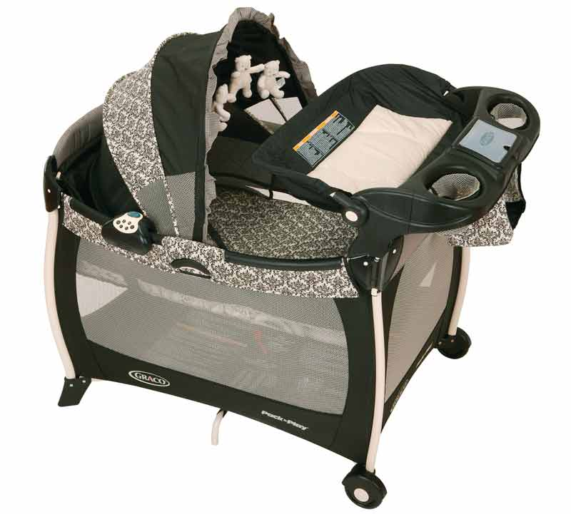 Graco Silhouette Pack u0027n Play Playard Rittenhouse Product Shot  sc 1 st  Amazon.com & Amazon.com : Graco Silhouette Pack u0027N Play Playard with Bassinet ...