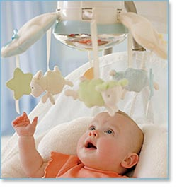 Fisher Price My Little Lamb Cradle 'n Swing - Comes with a large globe mirror