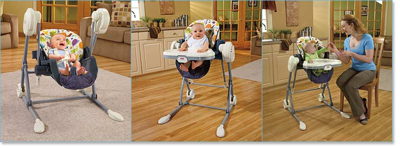 Fisher Price Swing to High Chair Lifestyle Shot