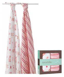 aden + anais classic 100-percent cotton muslin swaddles (Two Pack) Product Shot