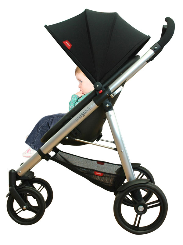 Amazon.com: phil&teds Smart Buggy Compact Stroller, Black