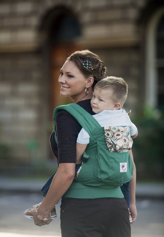 662aa358a71 Ergobaby Organic Collection Baby Carrier (Green River Rock) Product Shot