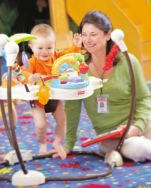 Amazon Com Fisher Price Luv U Zoo Jumperoo Stationary Stand Up Baby Activity