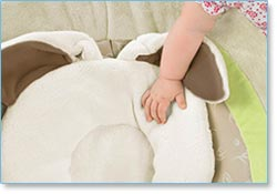 Fisher Price My Little Snugabunny Bouncer - Soft, contoured seat cushion