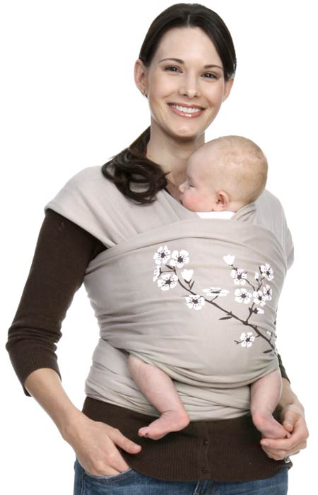 Amazon Com Moby Wrap Uv Spf 50 100 Cotton Baby Carrier Almond
