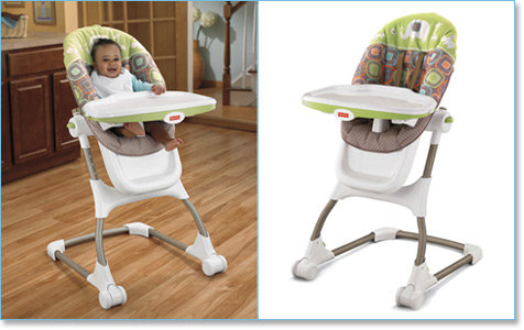 Amazon FisherPrice EZ Clean High Chair Coco Sorbet – Fisher Price Easy Fold High Chair Recall
