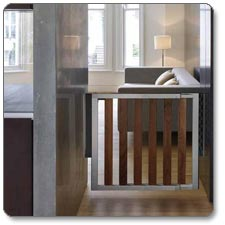 Amazon Com Munchkin Loft Dark Wood Infant Safety Gate