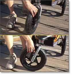 The Front Wheel Freely Rotates For Increased Maneuverability