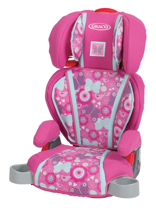 New Graco Pink Baby Girl High Back Turbo Childs Booster