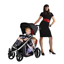 Verve Stroller, Black/Red Product Shot