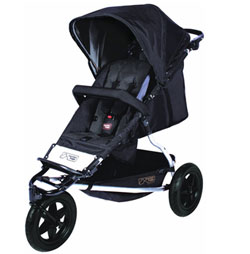 Mountain Buggy Plus One Buggy with Cocoon and Second Seat, Black Product Shot