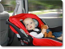 Britax B Safe Infant Car Seat Red Prior Model Baby
