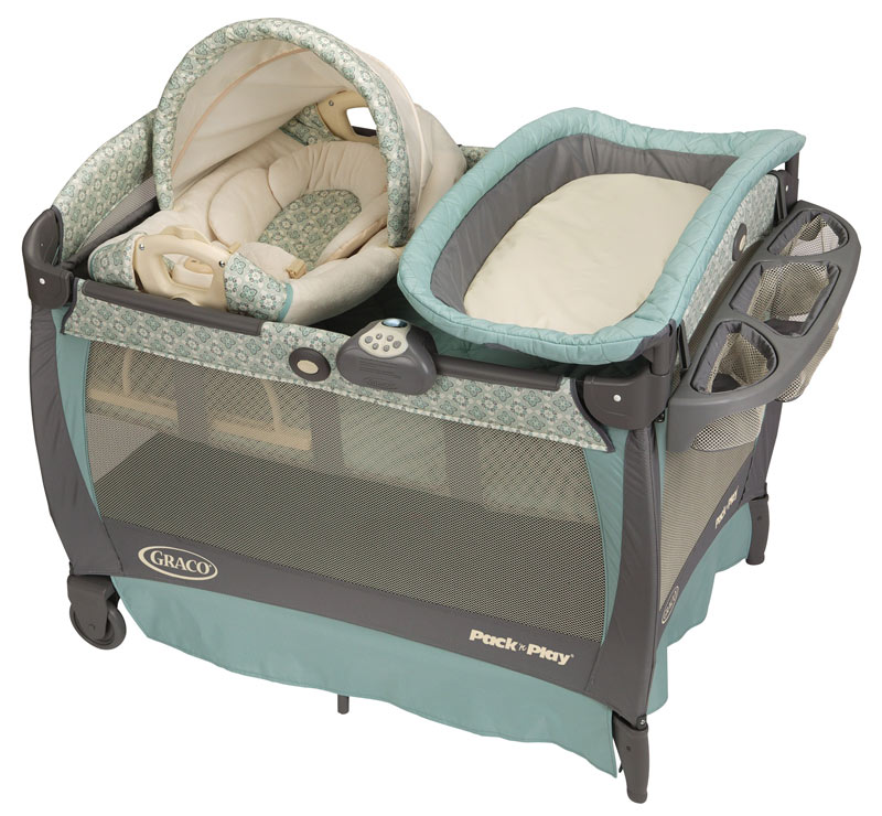 graco blue winslet cuddle cove travel bassinet crib playard pack n play pen new ebay. Black Bedroom Furniture Sets. Home Design Ideas