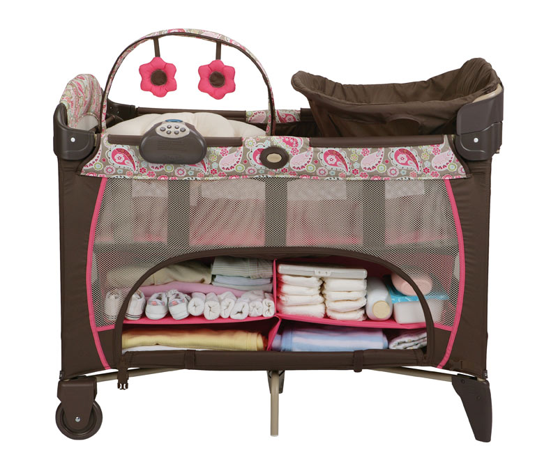 Graco Pack n Play Pen Playard Bassinet Napper Station DLX ...