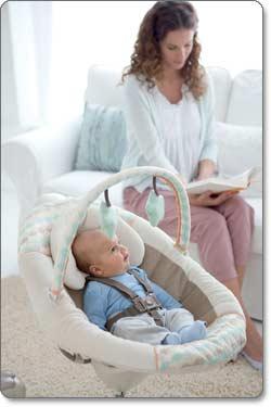 Graco Sweet Snuggle Infant Soothing Swing Lifestyle Shot