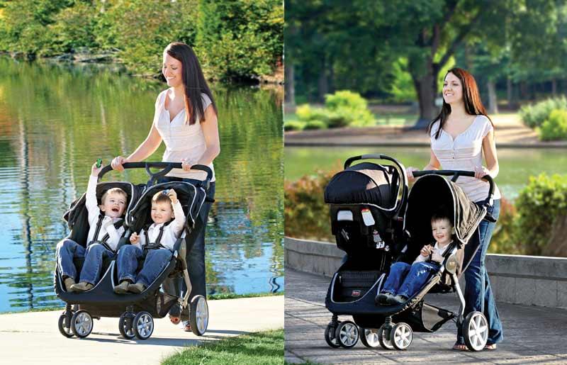 Britax B Agile Double Stroller Black Strollers Car Seats