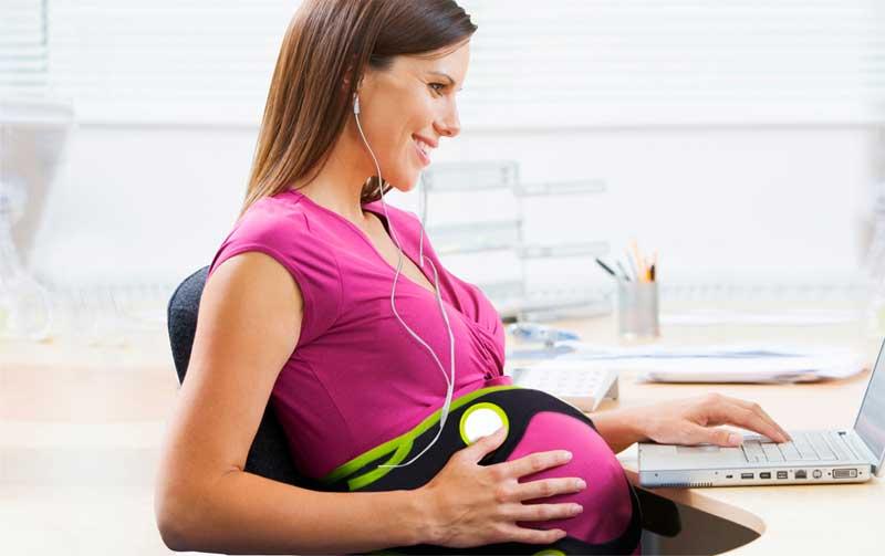 Amazon Com Nuvo Ritmo Pregnancy Audio Belt Black Baby