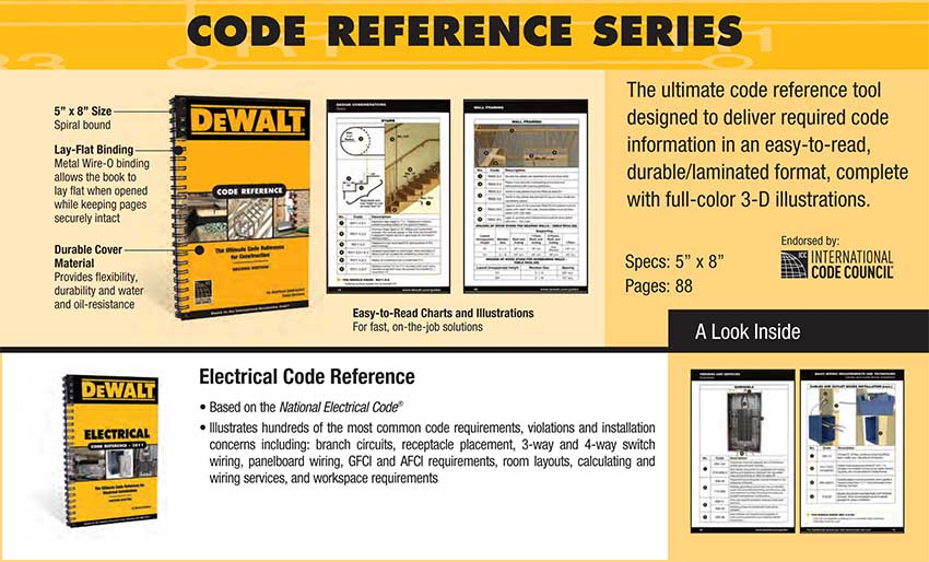 DEWALT Code Reference Series book specifications