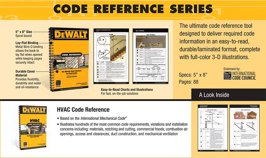 dewalt hvac code reference based on the international mechanical code enhance your hvac skills 1st edition - Color Code Book