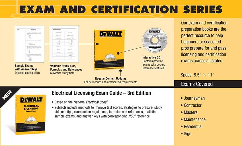 Dewalt Electrical Licensing Exam Guide Based On The Nec 2011