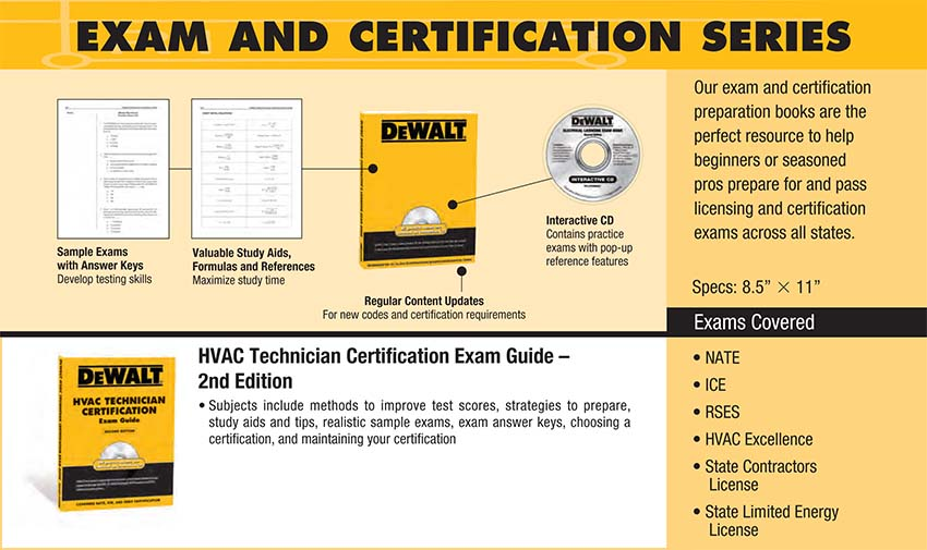 Dewalt Hvac Technician Certification Exam Guide Dewalt Series