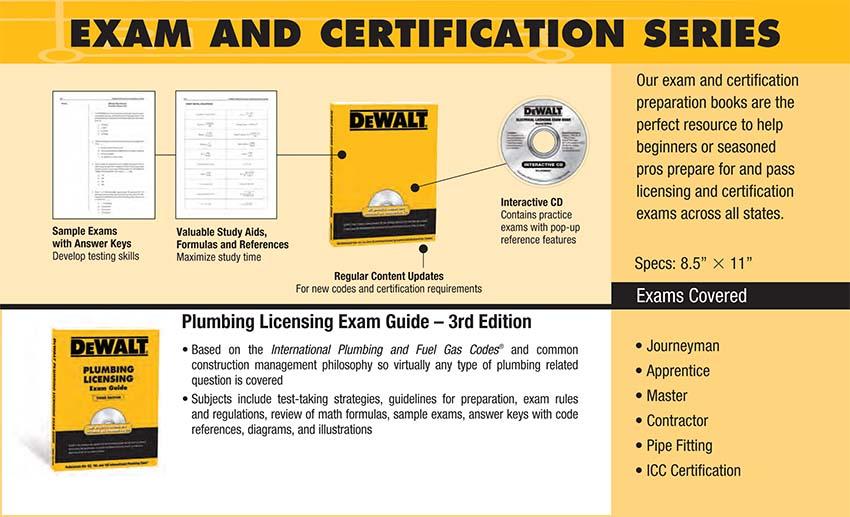 DEWALT Plumbing Licensing Exam Guide (DEWALT Series): American ...