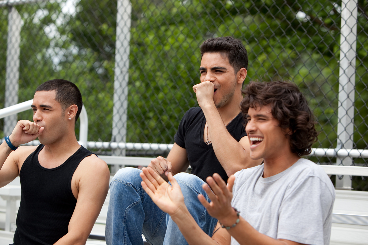 The Fuentes Brothers Watching A Soccer Match On The Set Of The Chain  Reaction Book Trailer Set!
