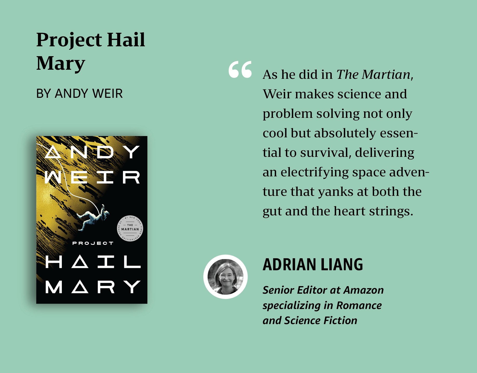 Adrian's personal pick: Project Hail Mary