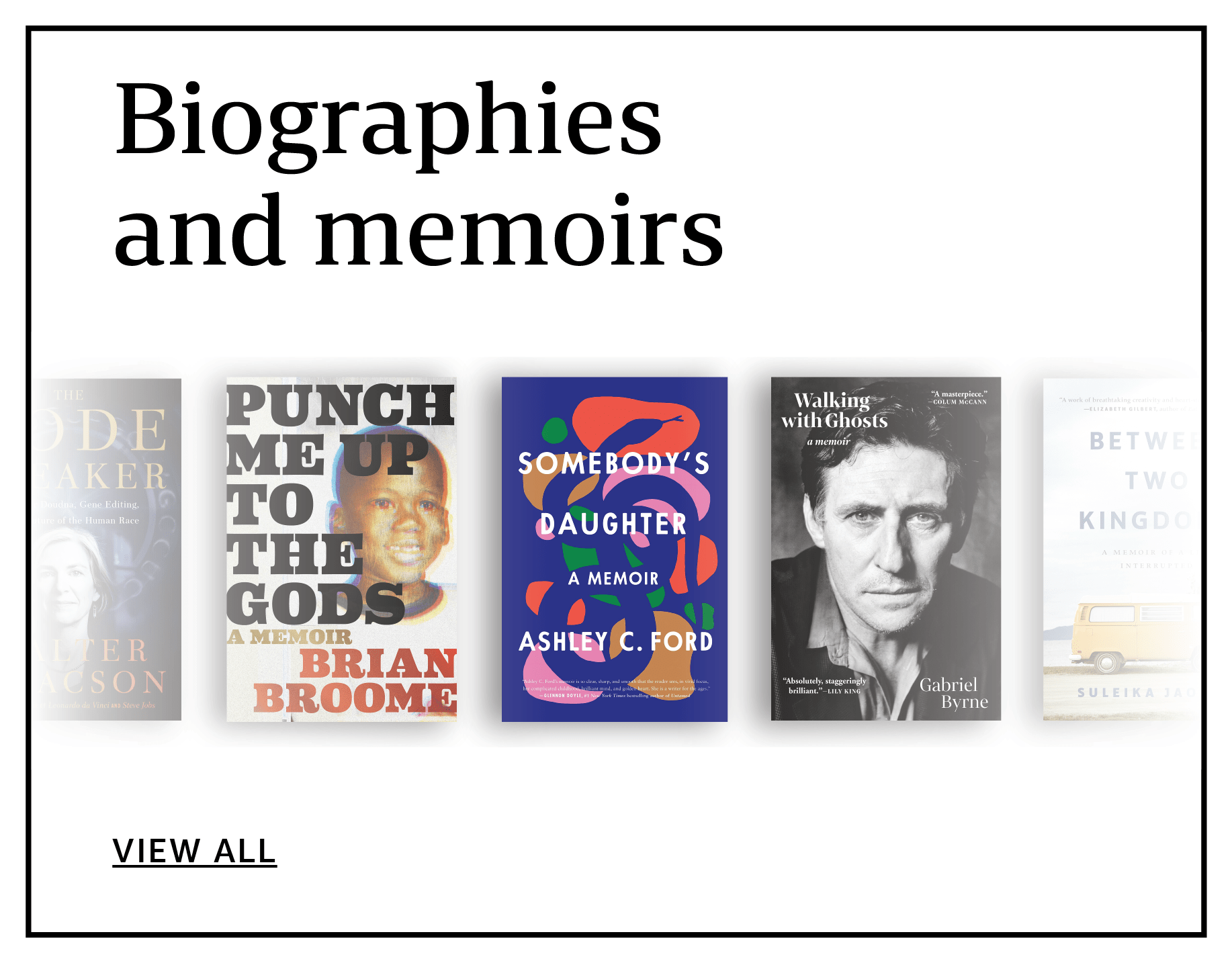 Biographies and memoirs