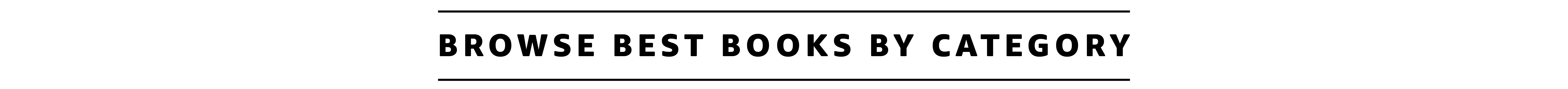 Best Books by Category