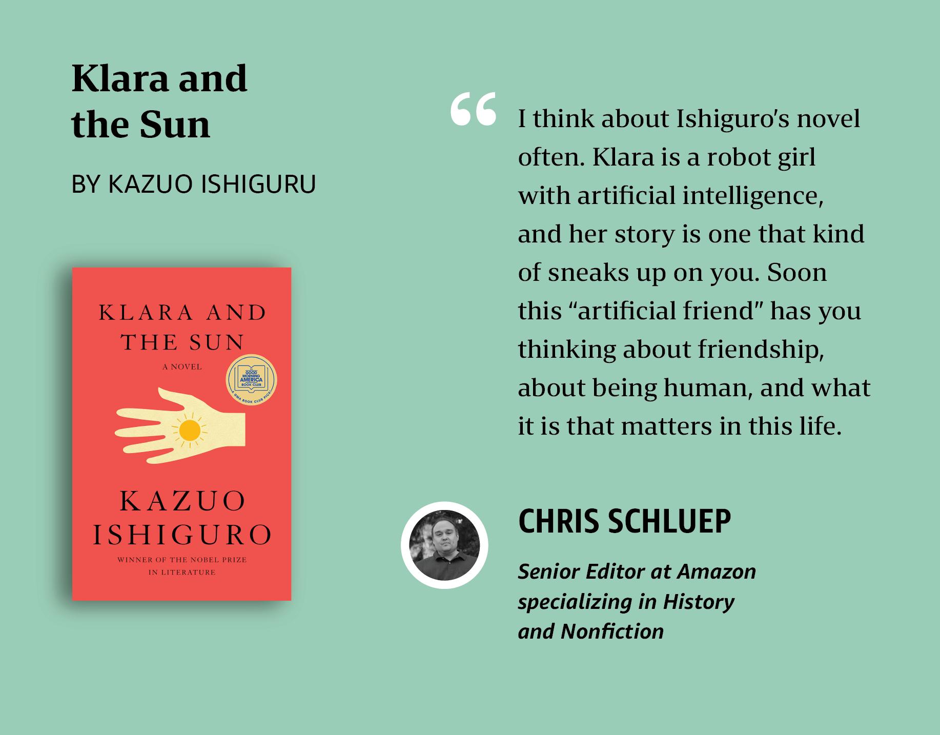Chris's pick: Klara and the Sun
