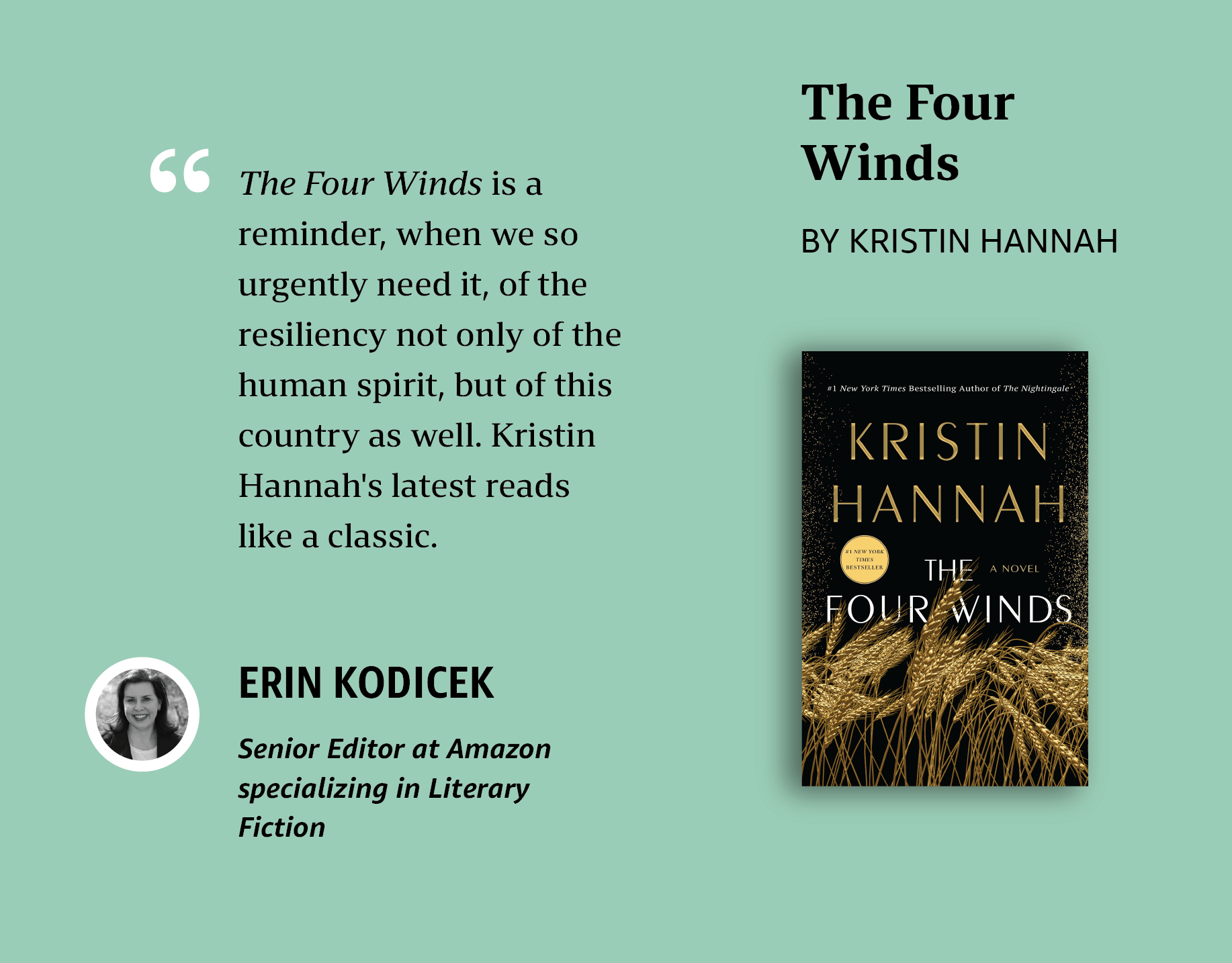 Erin' personal pick: The Four Winds