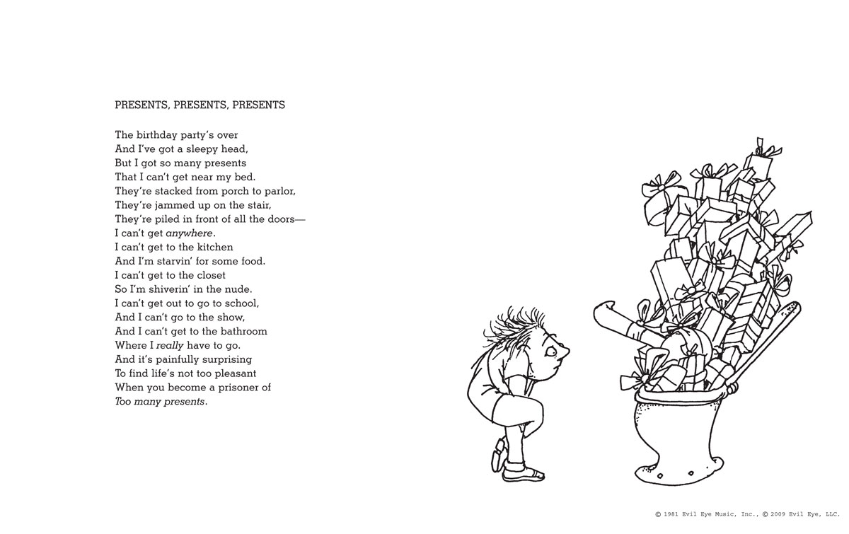 Shel Silverstein Famous Poems: A Light In The Attic Special Edition With 12 Extra Poems