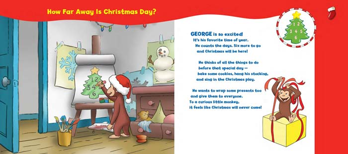 Curious George Christmas Countdown (CGTV Tabbed BB): Tish Rabe ...