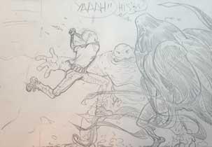 Battling Boy Hits Monsters