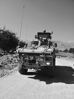 mine-resistant ambush protected vehicle (MRAP), a few minutes before