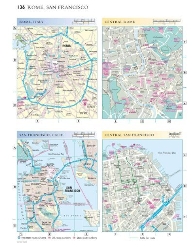 Atlas of the world 9780199328468 reference books amazon p 136 rome san francisco town plans this image shows maps of the cities of rome and san francisco gumiabroncs Images