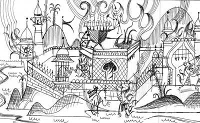 The Ramayana (Illustrated in b/w)