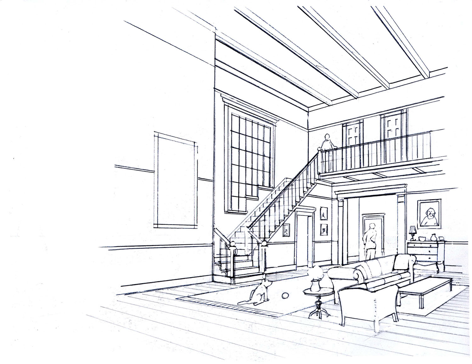 It is a photo of Légend Interior Perspective Drawing