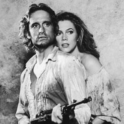 Michael Douglas and Kathleen Turner